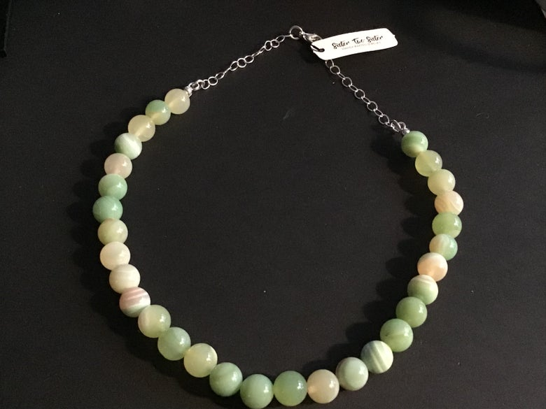 Image of Green agate necklace