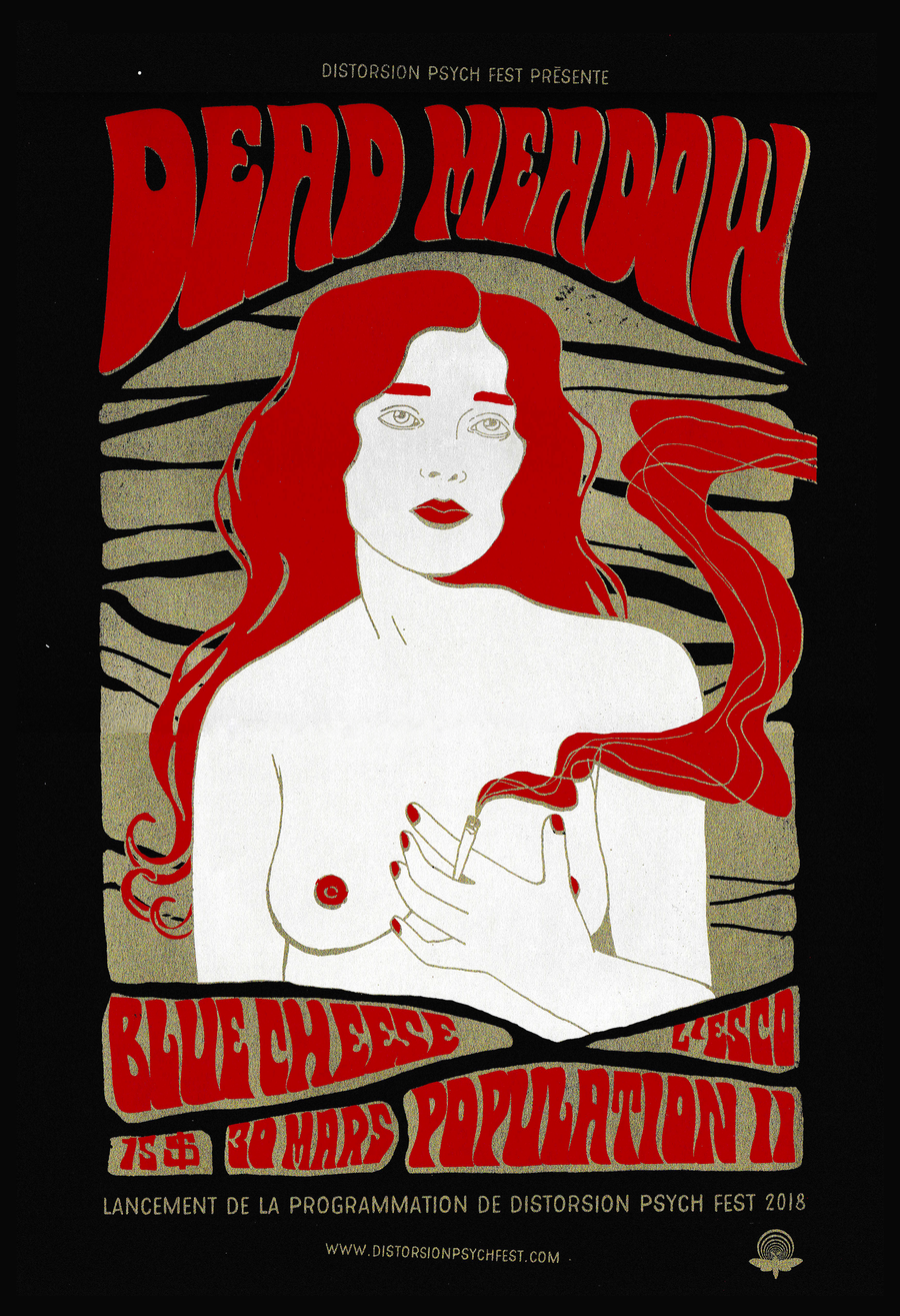 Image of Dead Meadow gig poster - screen printing