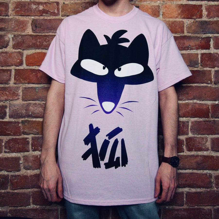Image of Kanji Fox Shirt - Pink