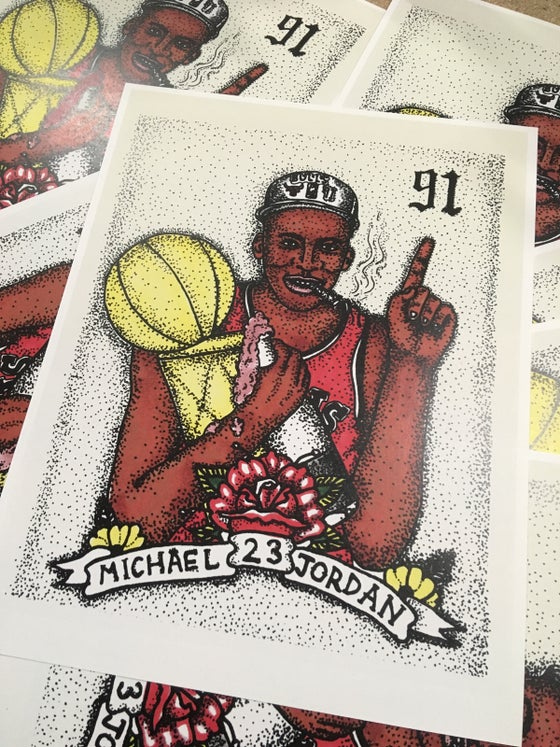 Image of 91 Jordan prints