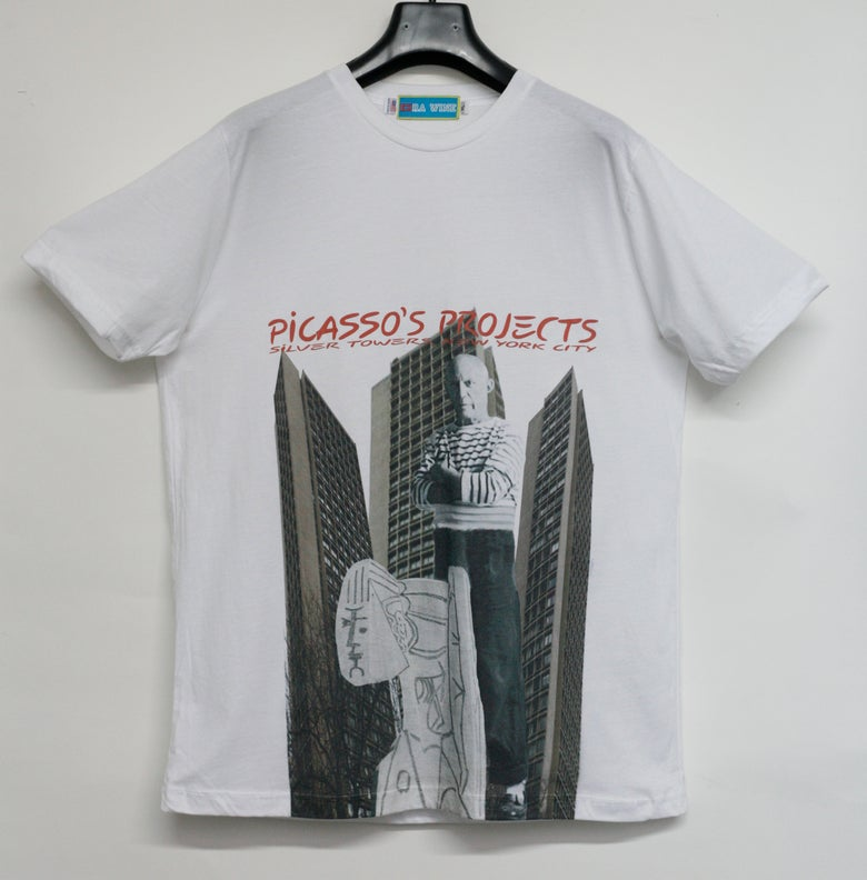 Image of White Picasso's Projects/Silver Towers Tee Shirt