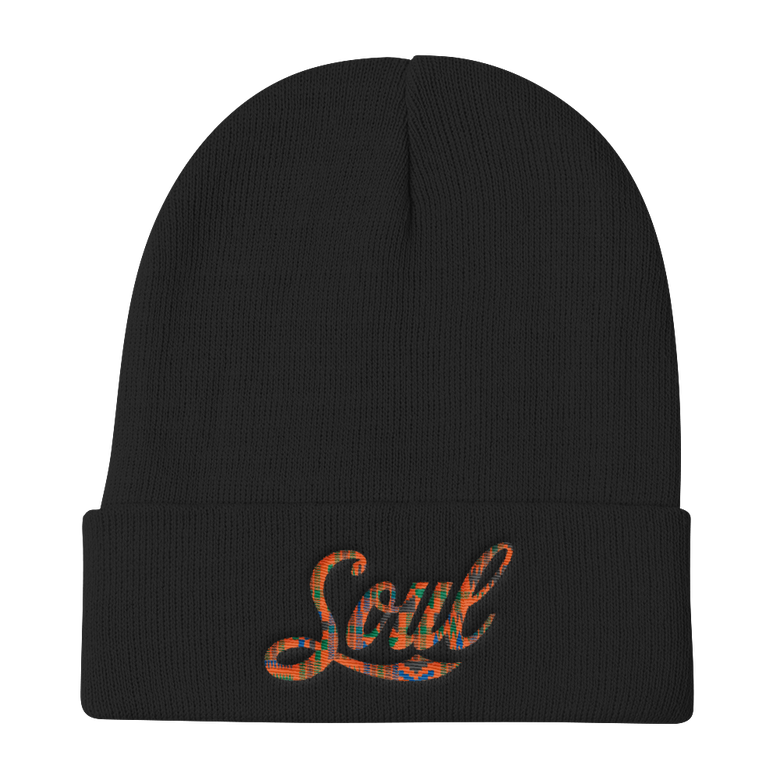 Image of Soul beanie (black/kente)