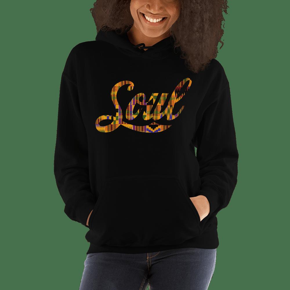 Image of Soul Hoodie (black/kente)