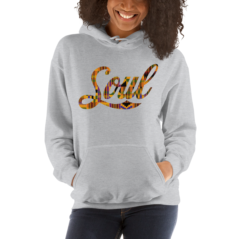 Image of Soul Hoodie (heather grey/kente)