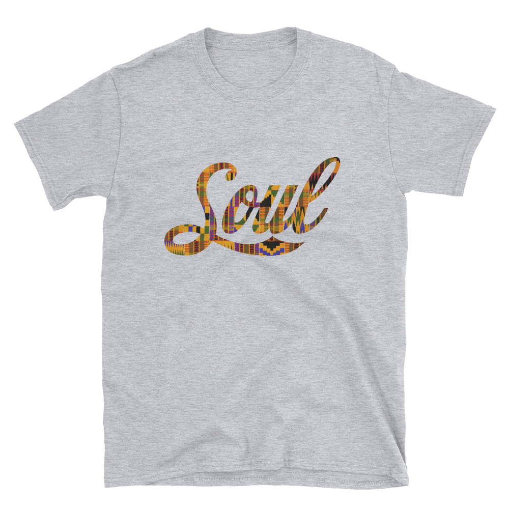 Image of Soul t-shirt (heather grey/ kente)