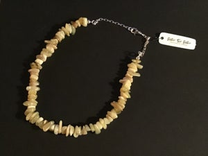 Image of Yellow agate necklace