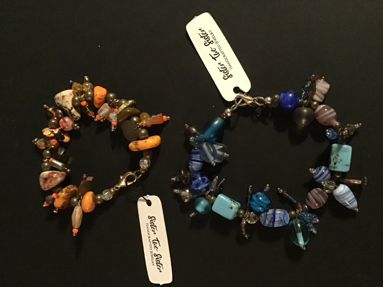 Image of Orange 0r Blue Tone Trash Bracelet