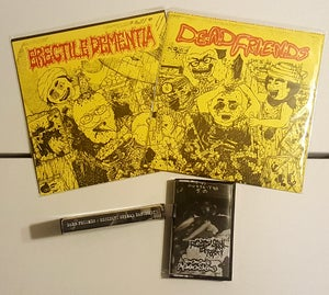 "Image of Dead Friends/Erectile Dementia 7"" or Dead Friends/RSD tape"
