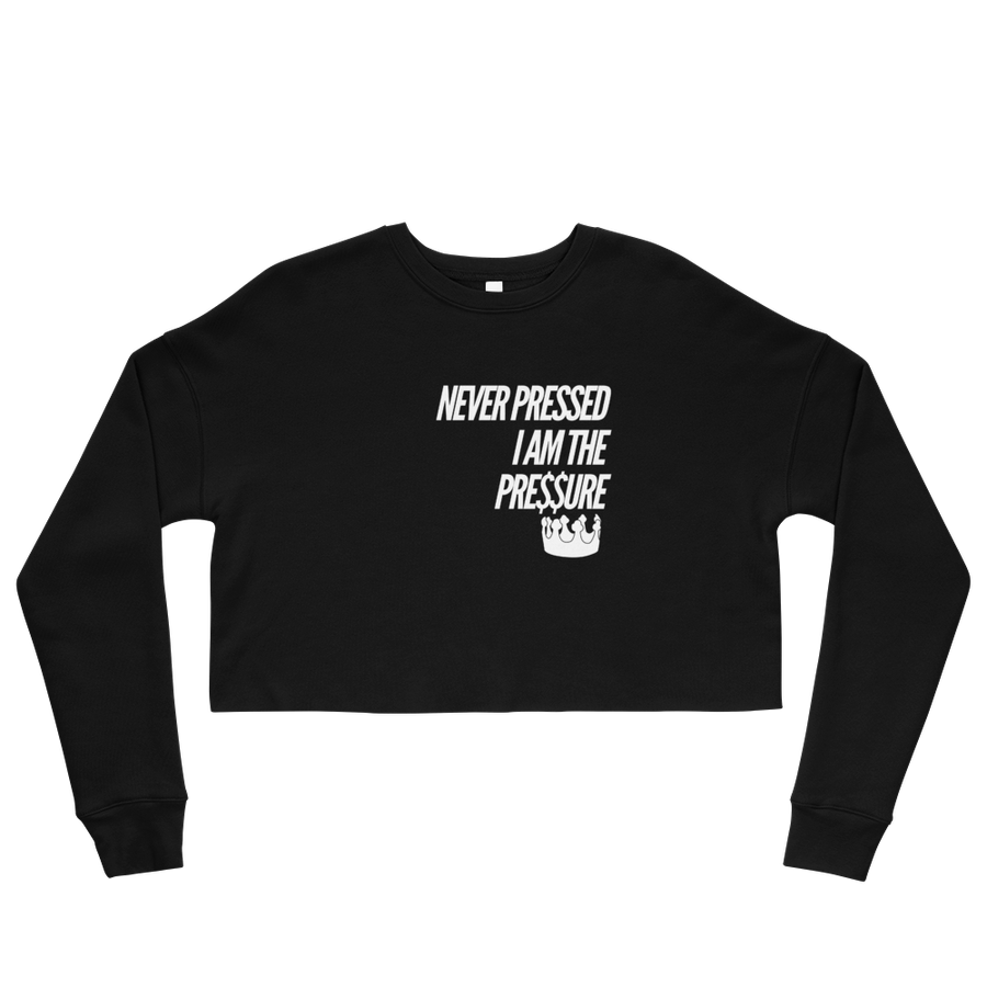 Image of Never Pressed Crop Crewneck-Blk