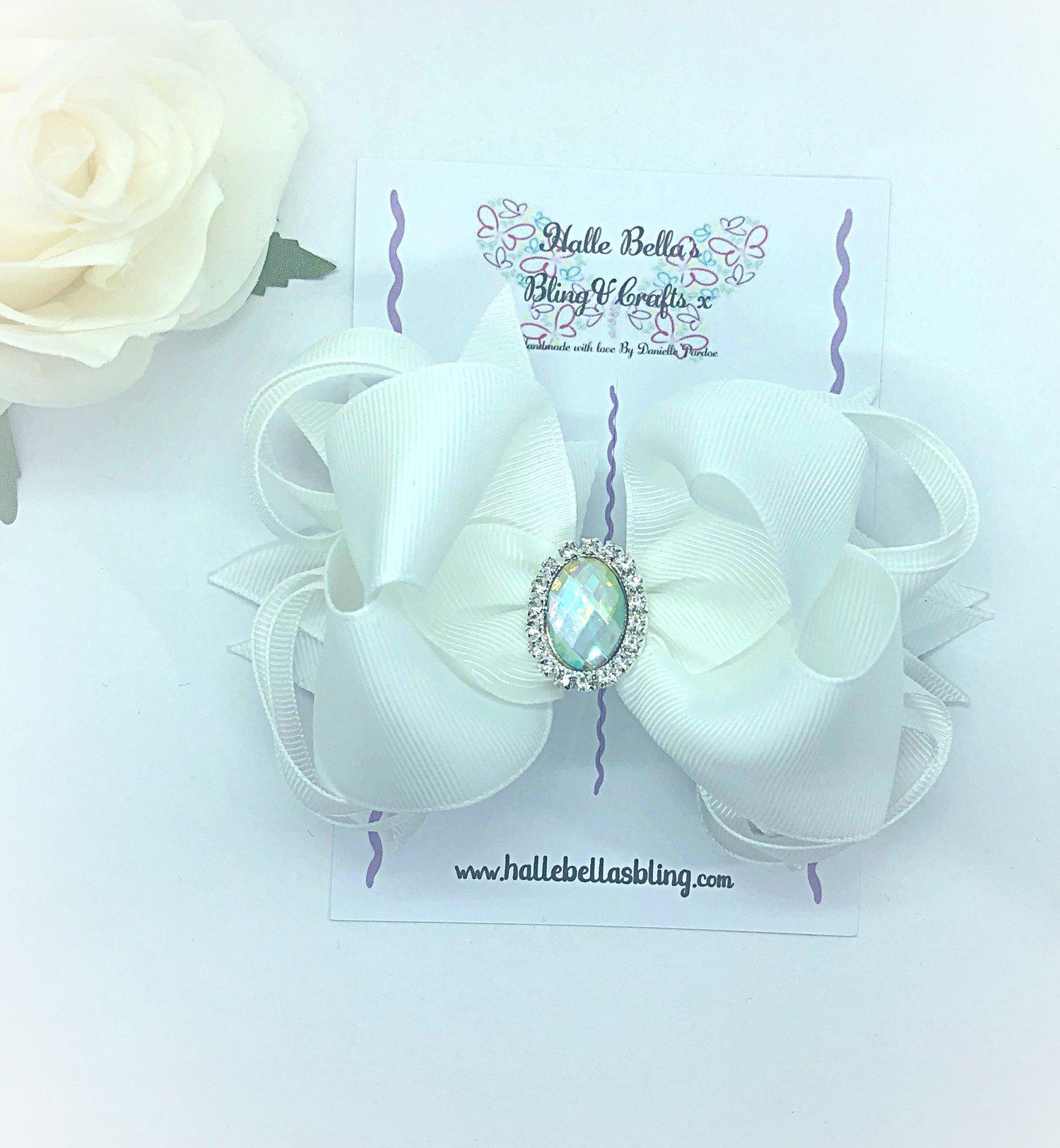 Image of White gem stacker