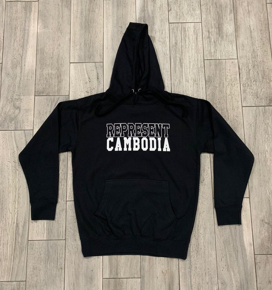 Image of REPRESENT CAMBODIA BOLD OUTLINE HOODIE