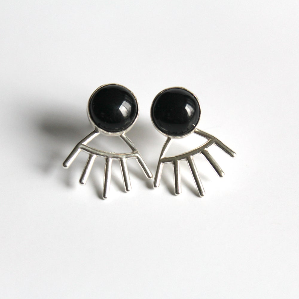 Black Onyx Sterling Silver Earrings w/Jackets