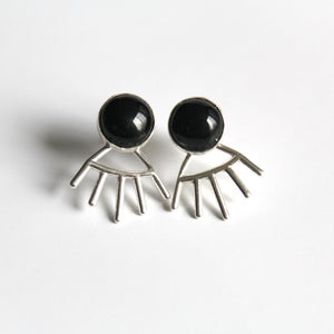 Image of Black Onyx Sterling Silver Earrings w/Jackets