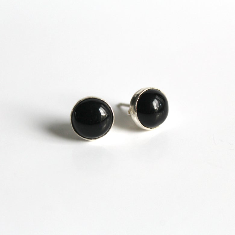 Image of Black Onyx Sterling Silver Earrings