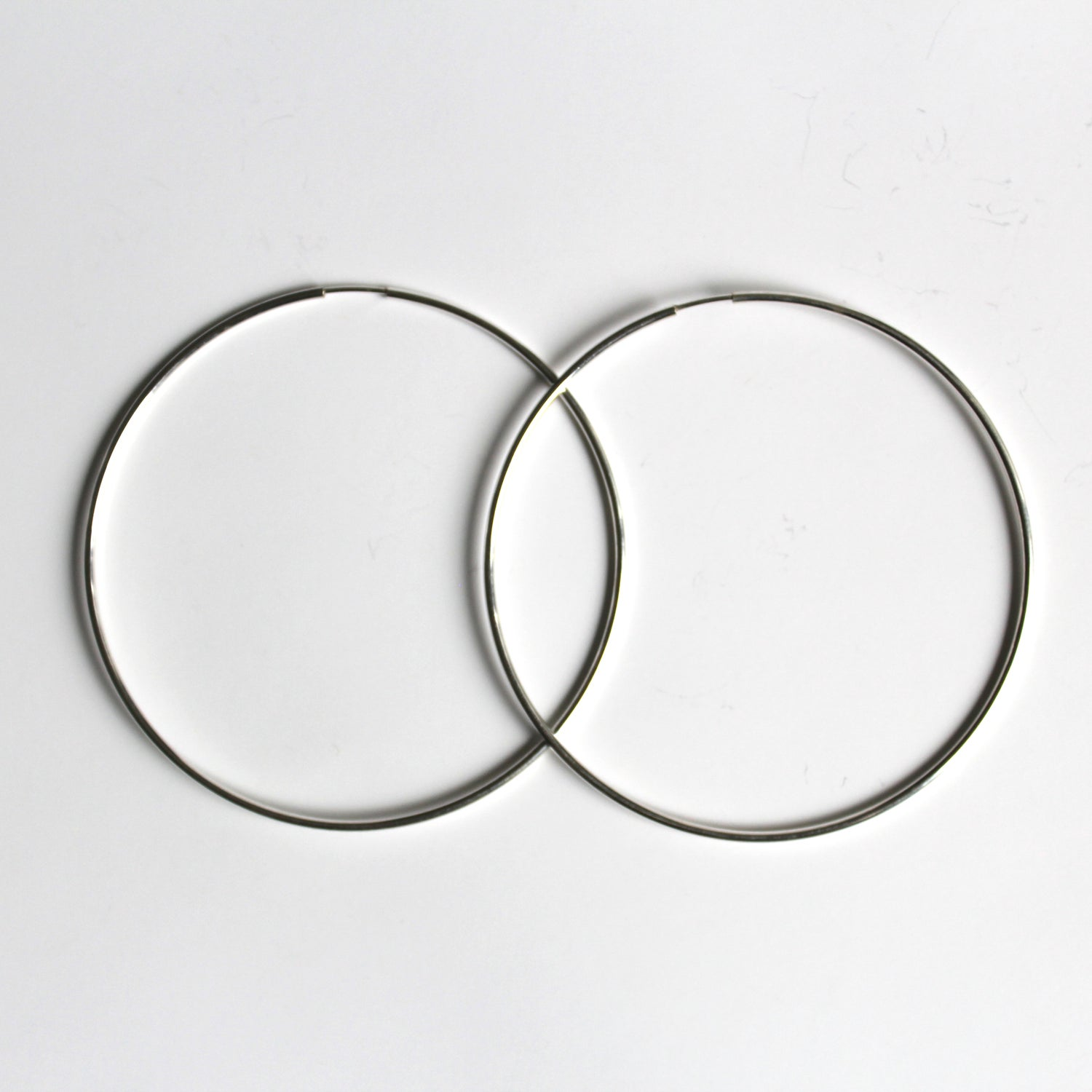 Image of Large Sterling Silver Endless Hoop Earrings