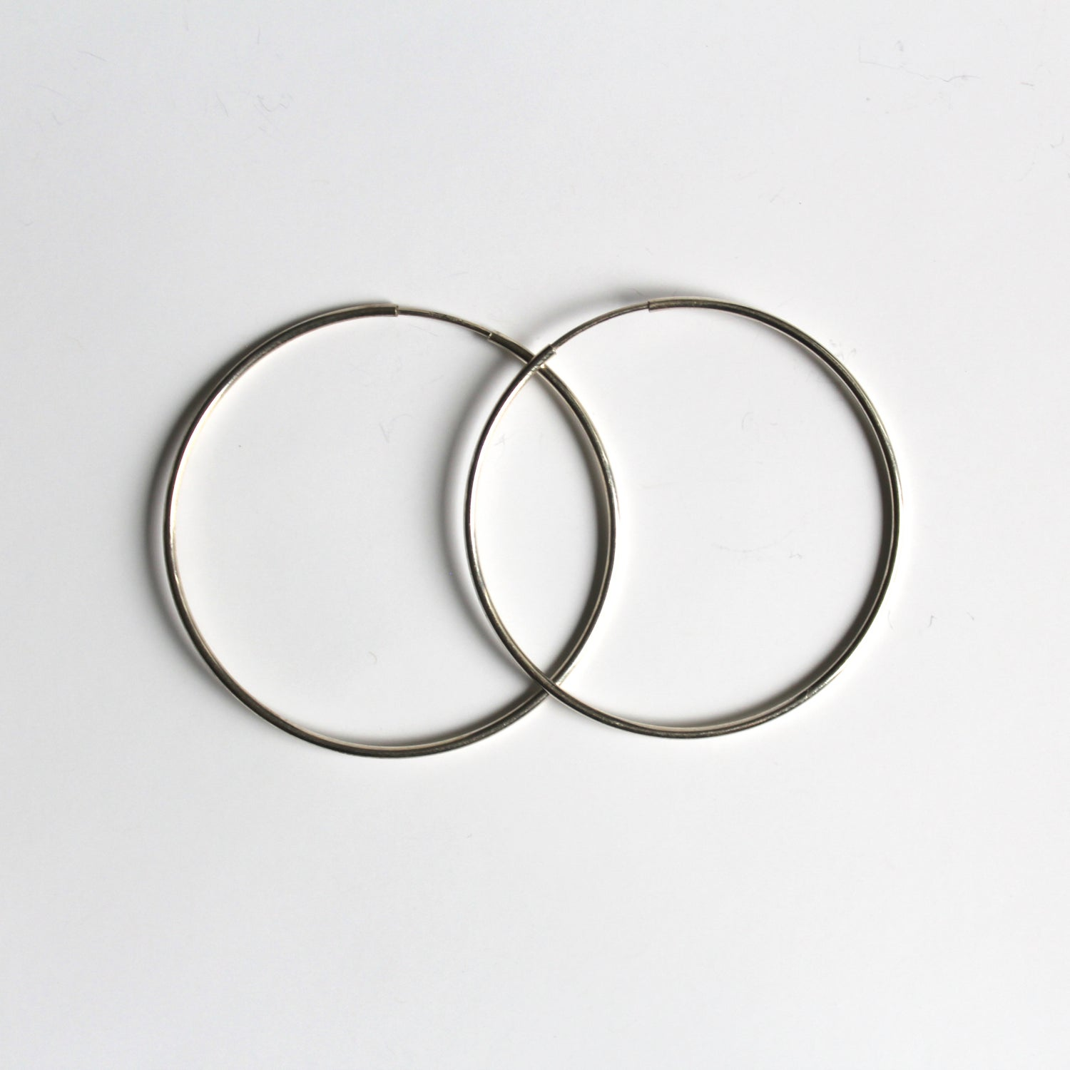 Image of Medium Sterling Silver Endless Hoop Earrings