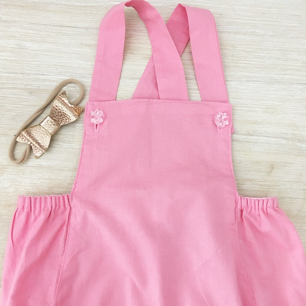 Image of Ronni  pink vintage romper