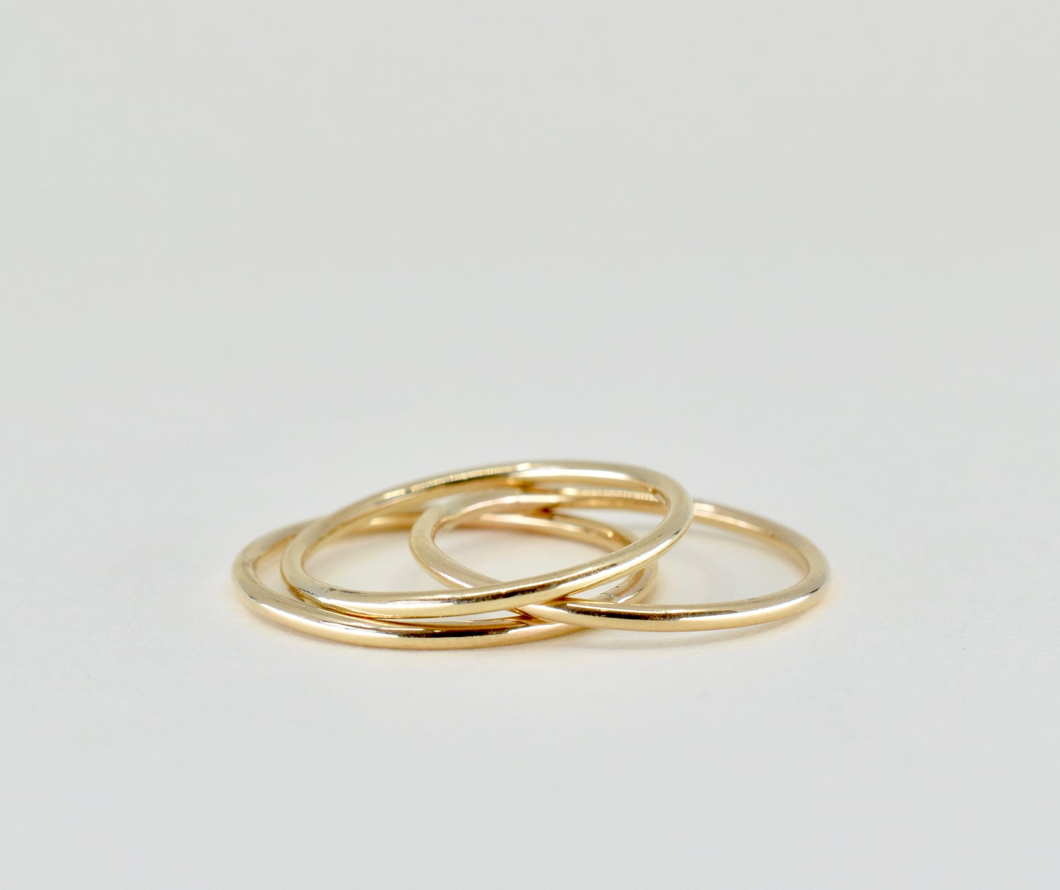 Image of 14k Gold Filled Smooth Stack Ring