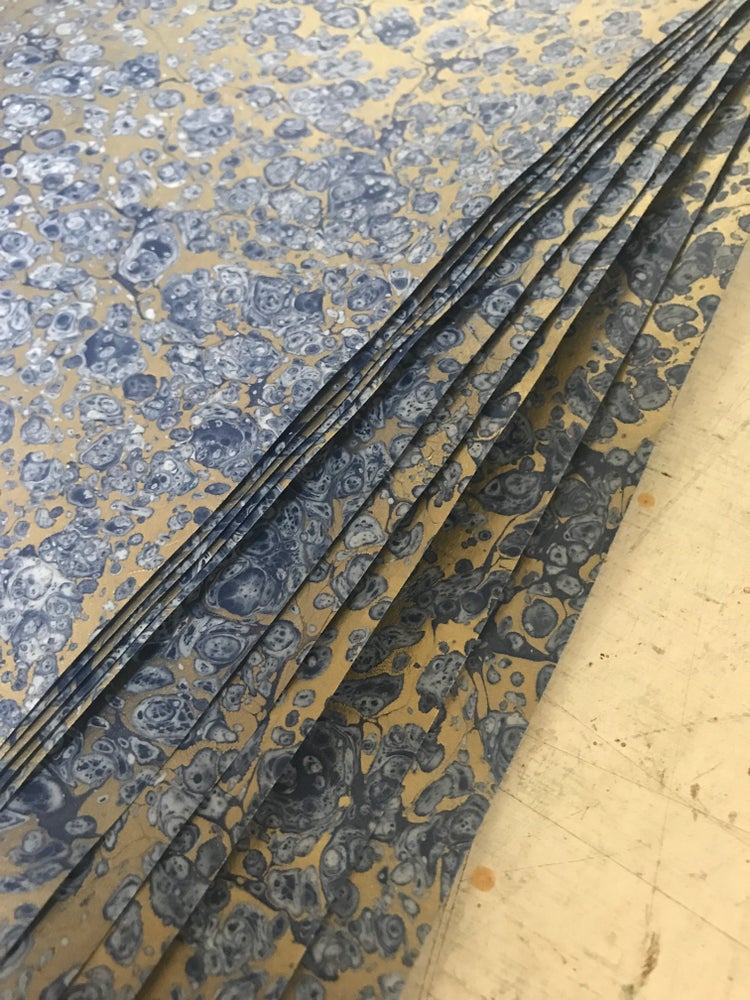 Image of Special Marbled paper 'frost'