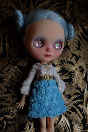 Image of LoungingLinda Rosebud Dress ~ Baby Blue