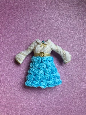 Image of LoungingLinda Rosebud Dress ~ Baby Blue