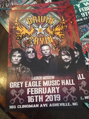 Image of Winter Tour 2019 signed posters