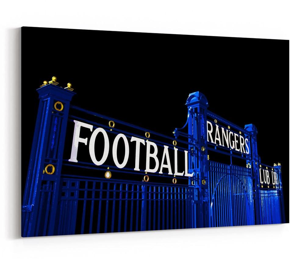 Image of The Blue Gates at Ibrox Stadium