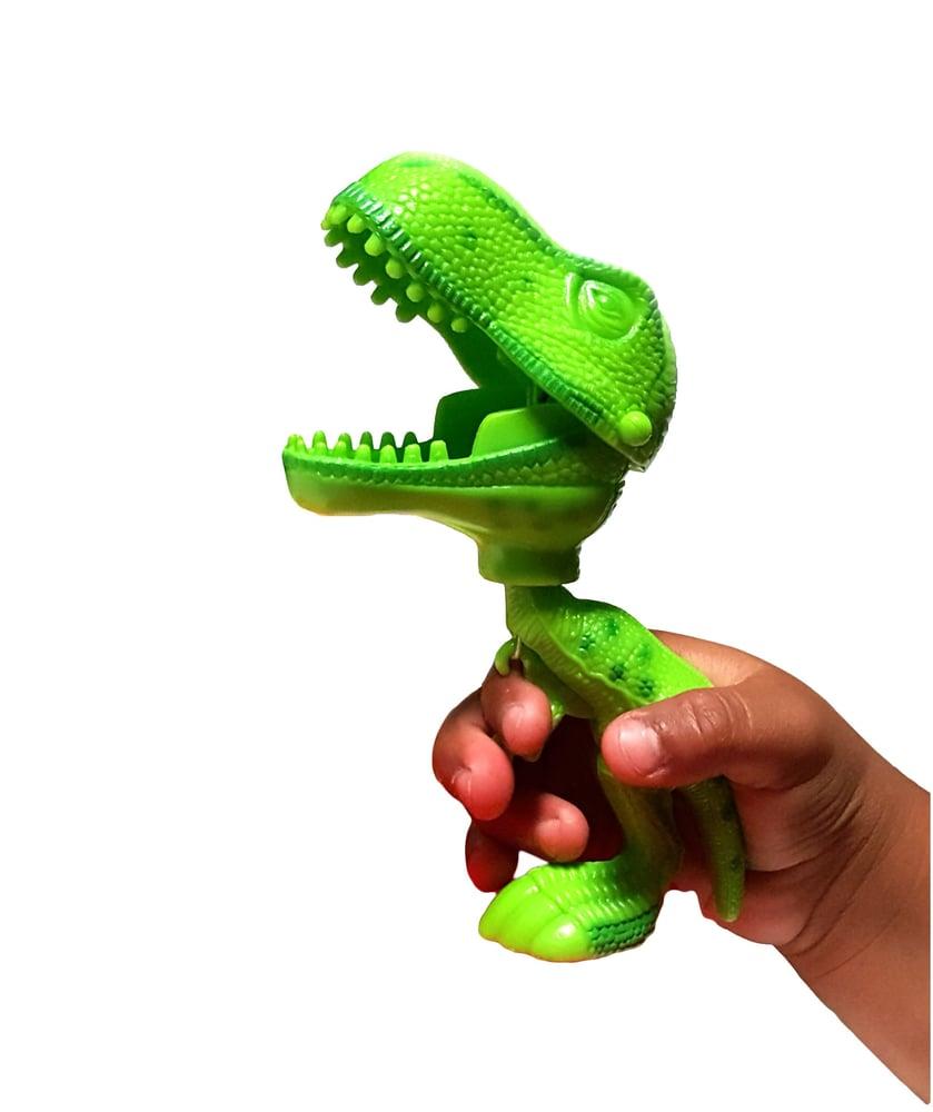 Image of 3 pack T-Rex Dinosaur Grabber Fine Motor Tool