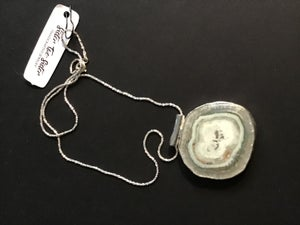 Image of Sliced Agate Pendant Set in Sterling Silver