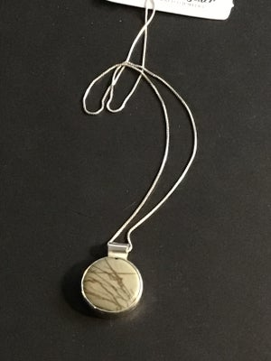 Image of Picasso Jasper Pendant Set in Sterling Silver