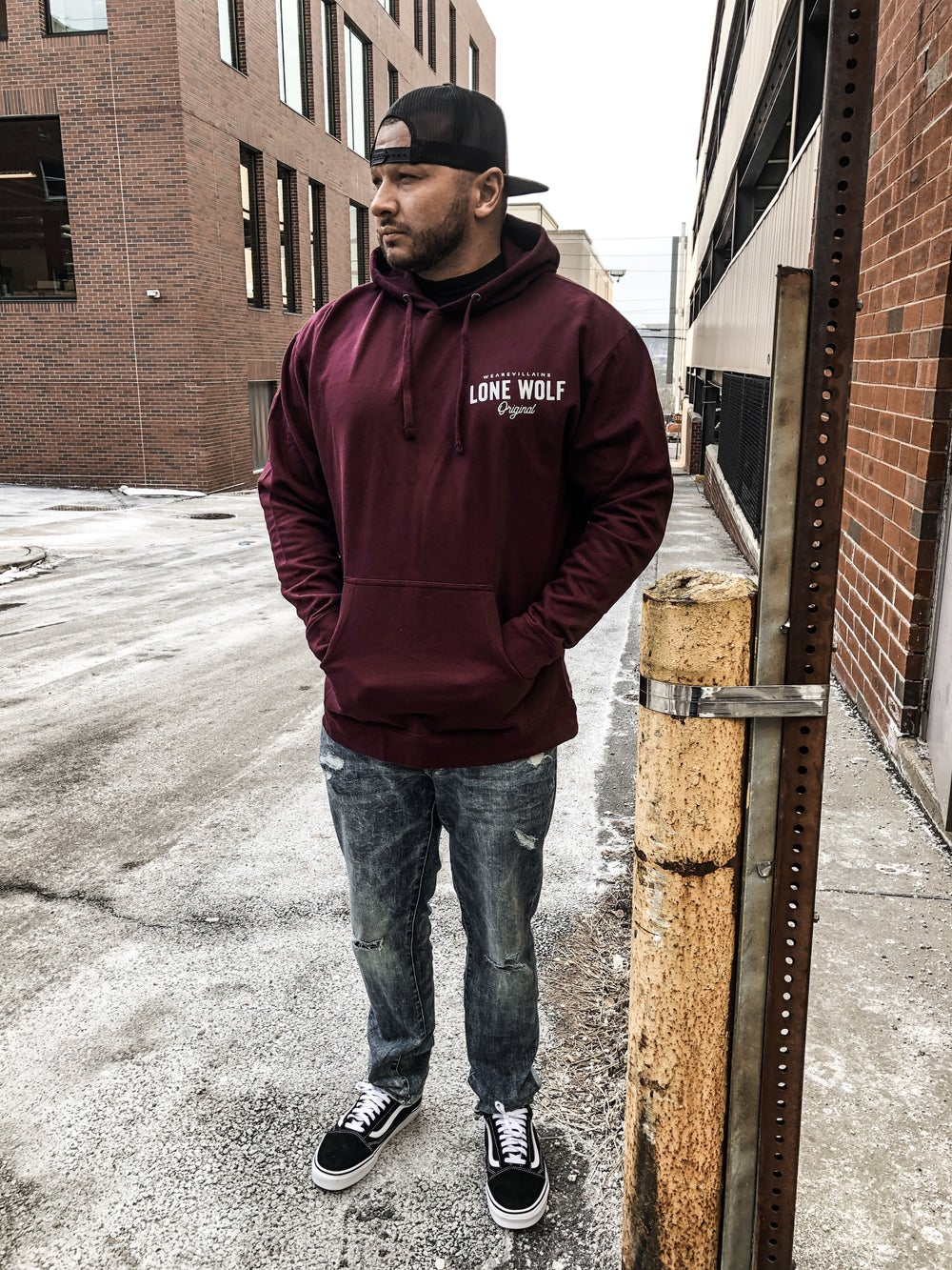 Image of Lone Wolf maroon WEAREVILLAINS