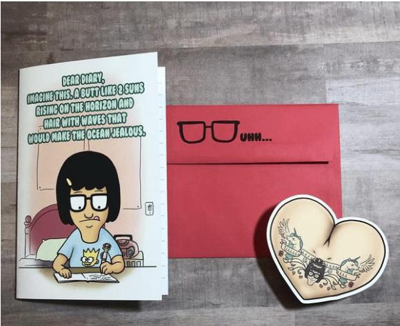 Image of Fan Fiction Love Card