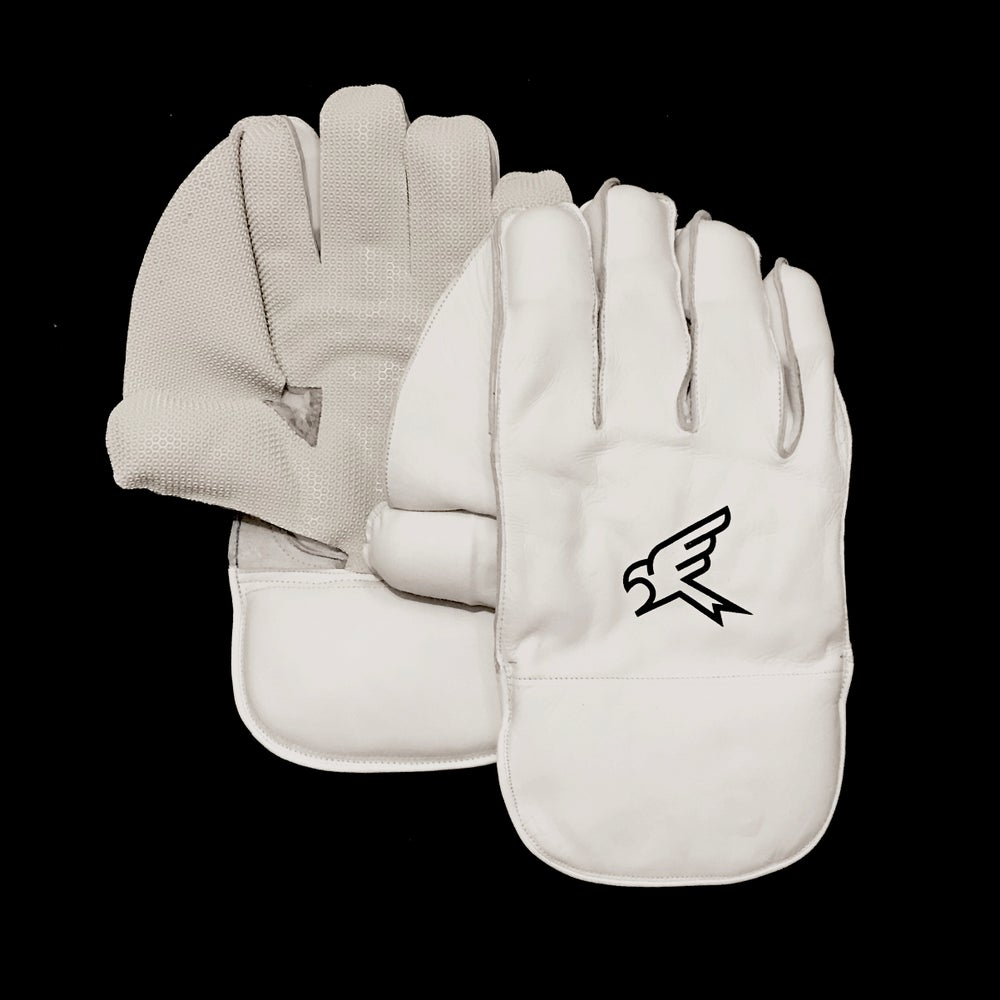 Image of Pro White Wicket Keeping Gloves