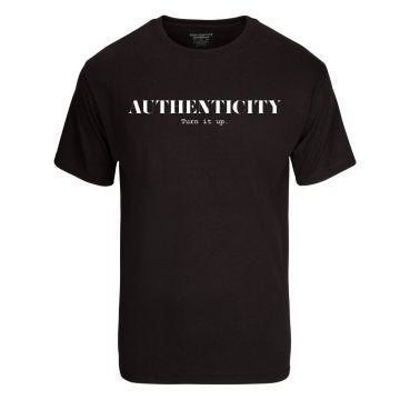 "Image of AUTHENTICITY ""Turn It Up"" Unisex T-Shirt"
