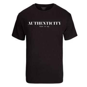"""Image of AUTHENTICITY """"Turn It Up"""" Unisex T-Shirt"""