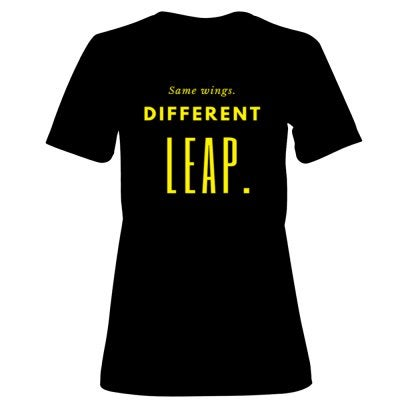 """Image of """"Same Wings. Different Leap"""" Unisex T-Shirt"""