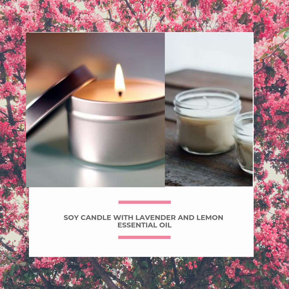 Image of Soy Candle with Lavender and Lemon Essential Oil