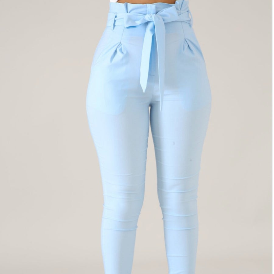 Image of Baby blue Bow tie pants