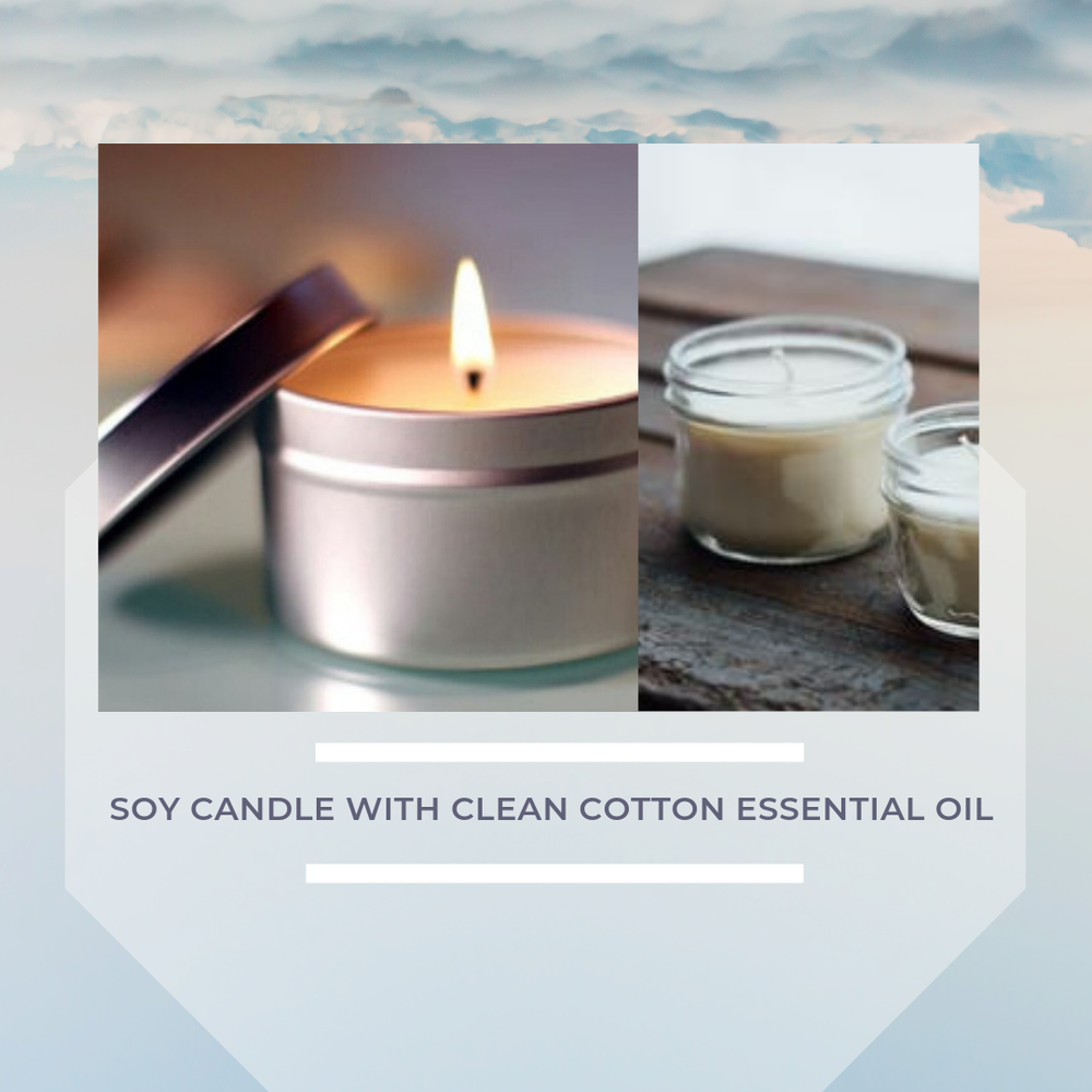 Image of Soy Candle with Clean Cotton Essential Oil