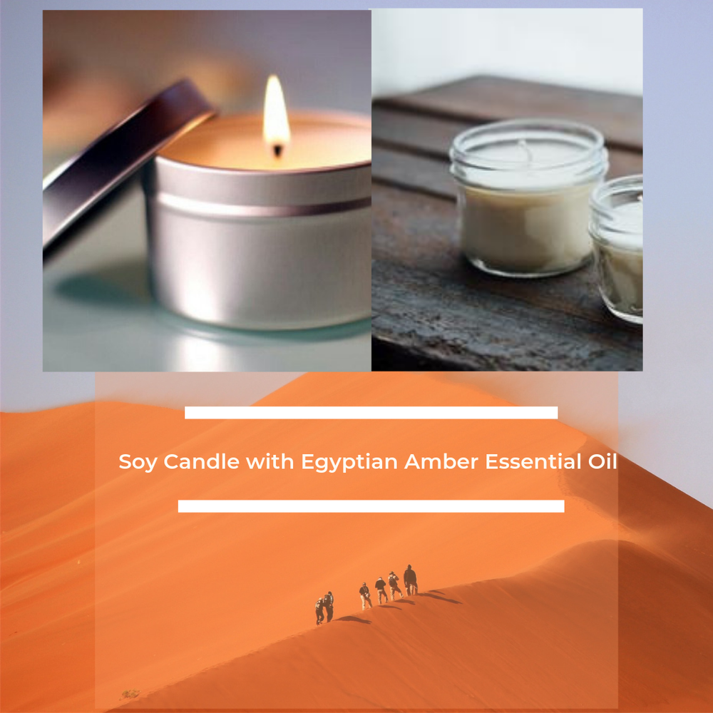 Image of Soy Candle with Egyptian Amber Essential Oil