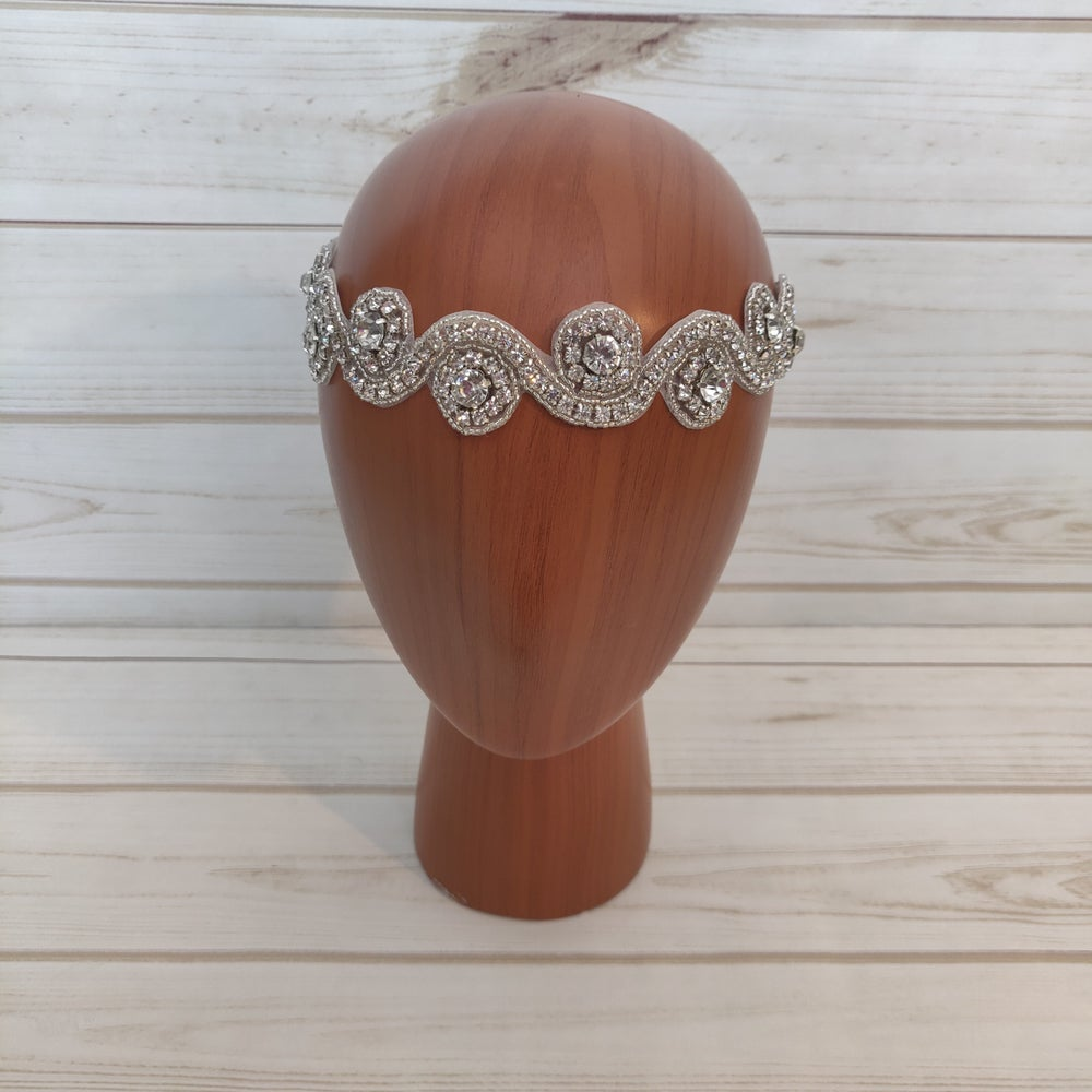 """Ellie"" Bridal Headpiece (Available in other Colors)"