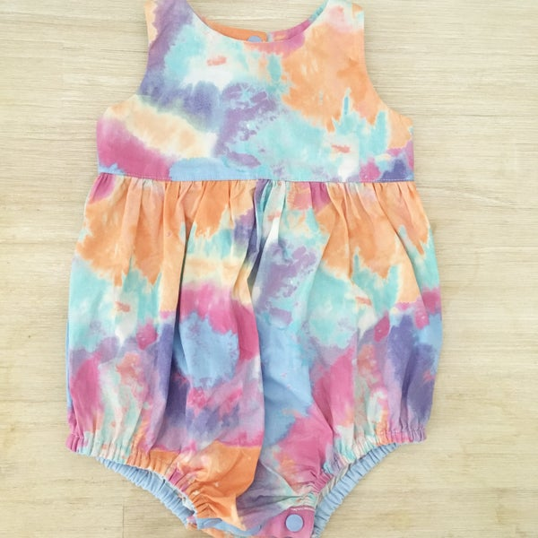 Image of Tied-dye playsuit romper