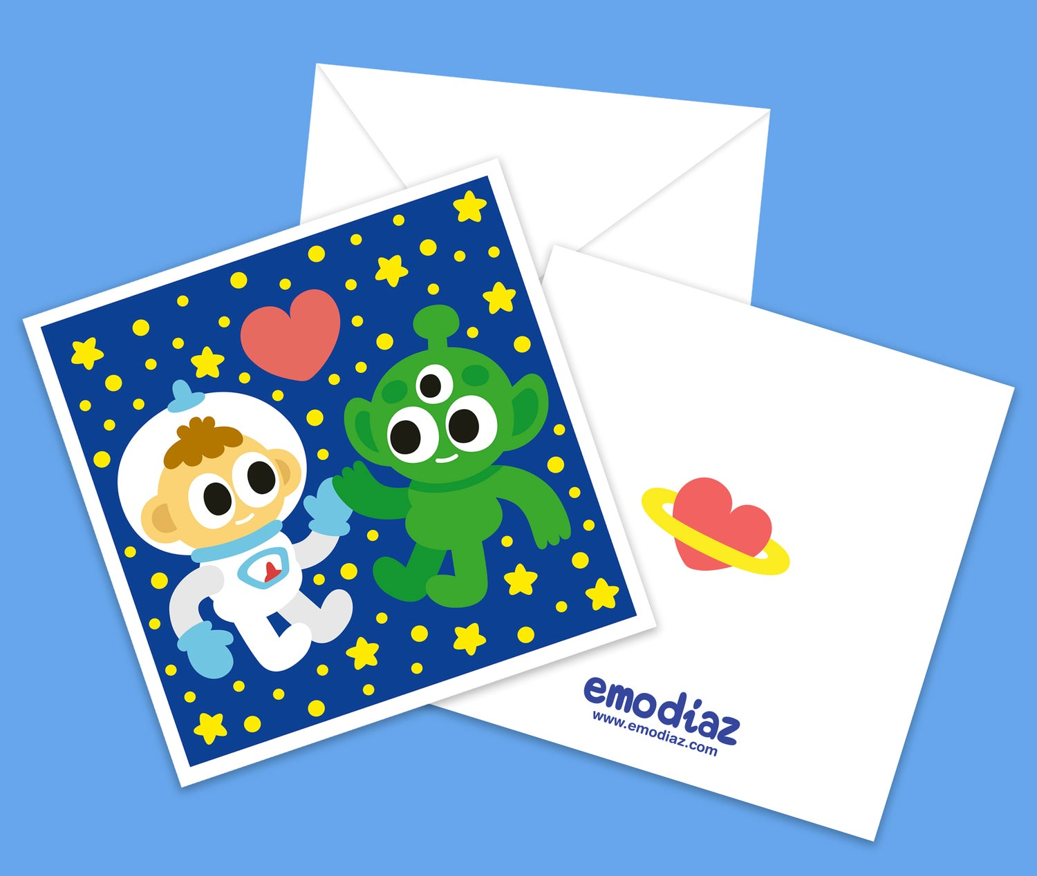 Image of  Intergalactic Love · Greeting Card