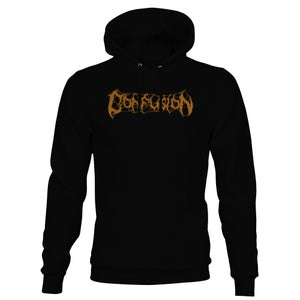 """Image of Confusion """"Clock Tower"""" hoody (gold ink)"""