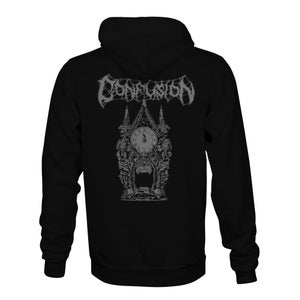 "Image of Confusion Magazine's ""Clock Tower"" hoody (grey ink)"