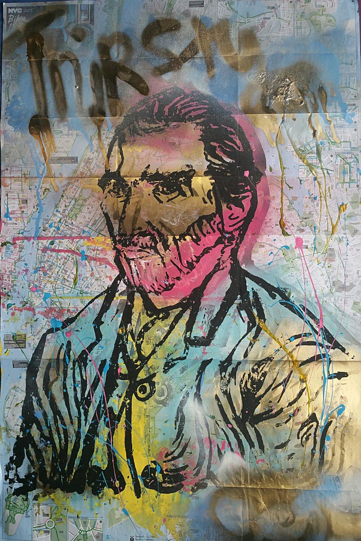 "Image of ""Thirsty!/Van Gogh."" on NYC Bike Map."