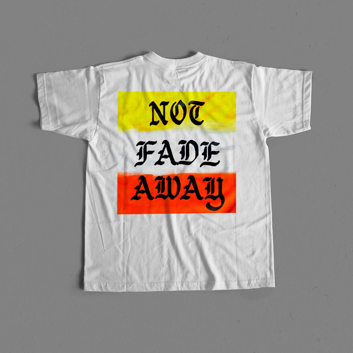 Image of Not Fade Away Gradient Pocket Tee - White