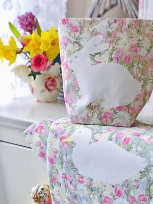 Image of Spring Bunny Fabric Basket