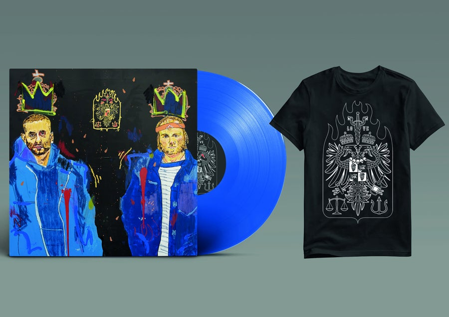 "Image of *PREORDER*  BUNDLE: LO VE - 12"" LP LIMITED (BLUE) + TSHIRT"