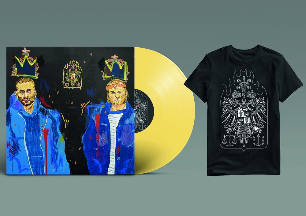 "Image of *PREORDER*  BUNDLE: LO VE - 12"" LP LIMITED (YELLOW) + TSHIRT"